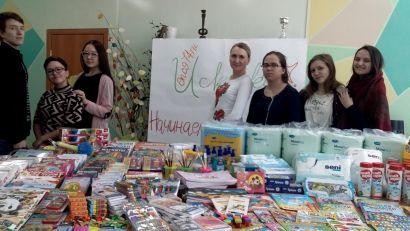 Устькатавцы собрали «Посылки доброты» для фонда «Искорка»