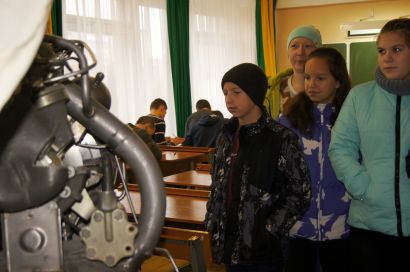 Ученики четвёртой школы посетили усть-катавский техникум